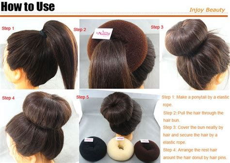 how to use a hair bun ring 1pc free shipping manufacture 3 color fashion beauty donut