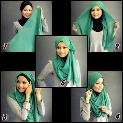 simple hijab tutorial style for beginners scarf styling and tutorials funky hijabi