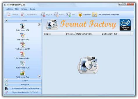 format factory ultima versione italiano download formatfactory in italiano per convertire video e