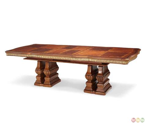 michael amini cortina traditional rectangle dining table
