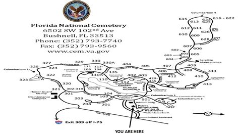map of bushnell florida map of florida national cemetery