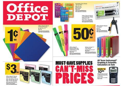 office depot school supply deals for week of 8 11 13