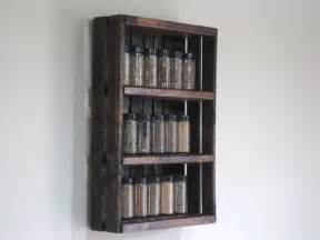 Hanging Spice Racks Crate Spice Rack Or Knick Knack Display Wall Hanging