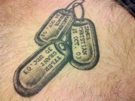 cross tattoos with dog tags tags ideas