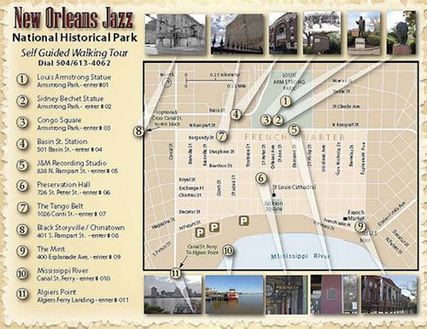 Garden District New Orleans Walking Tour Map by New Orleans Jazz National Historic Park Self Guided
