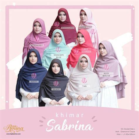 Hijabkhimar Sabrina Diamont khimar sabrina charm pink hijabamina