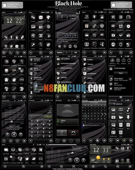 black themes for nokia x202 black hole theme for nokia n8 other belle smartphones