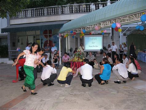 khmer new year celebration a khmer traditional game