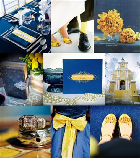 color combo…yellow and what shade of blue? weddingbee