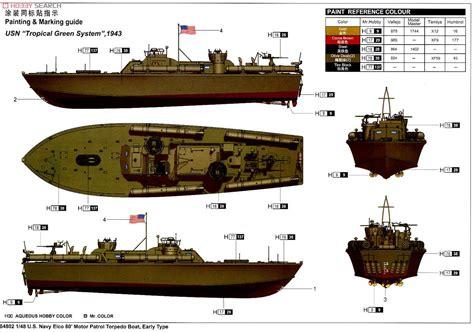 pt boat color schemes u s navy elco 80 pt boat early type plastic model color2