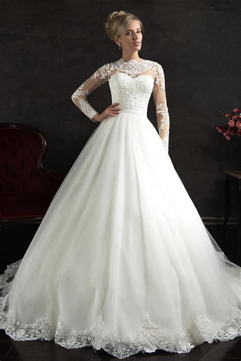 White Wedding Gown Shopping by Compare Prices On Sleeve Wedding Gowns