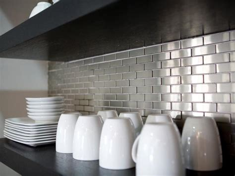 tin backsplash kitchen backsplashes contemporary metal tile backsplashes pictures ideas tips from hgtv