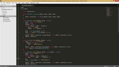 membuat web responsive dengan php membuat crud dengan php mysqli versi oop style