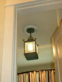 Replace recessed light with a pendant fixture bathroom ideas
