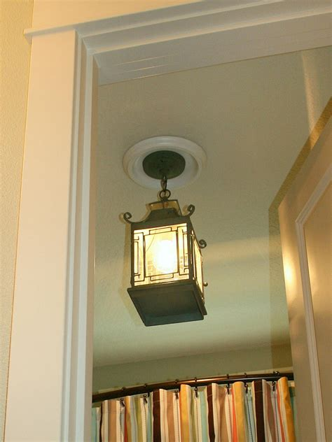 hanging bathroom light fixtures replace recessed light with a pendant fixture hgtv