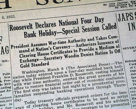 is day a bank 1933 bank ordered rarenewspapers