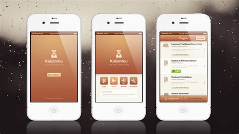 design application kuliahmu app mobile ui ux design by faizalqurni on