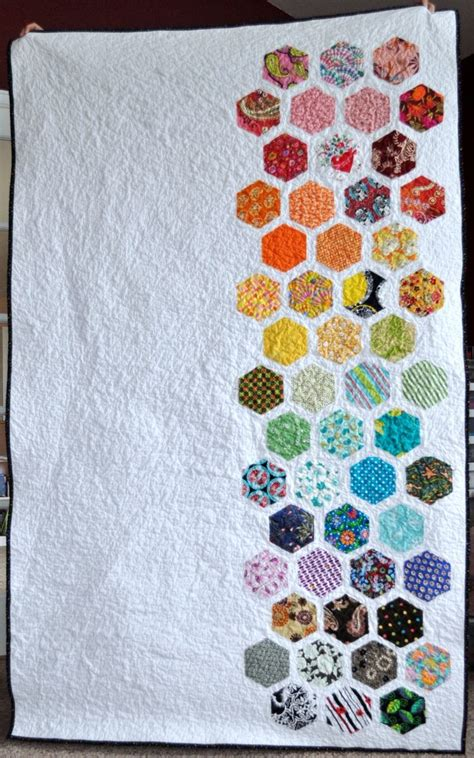 Modern Hexagon Quilt Patterns by 17 Best Images About Hexagon Quilt Guest Book Ideas On