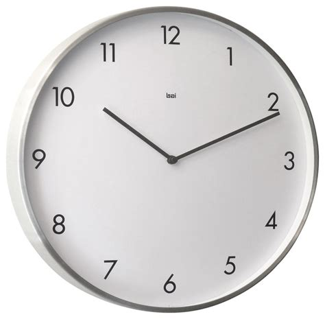 large wall clock in living room