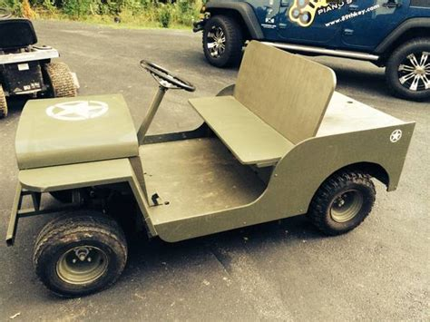 Jeep Golf Cart Jeep Army Golf Cart Golf Carts Car Interior Design