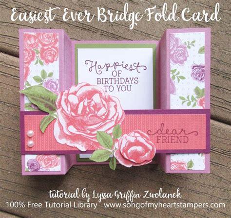 Tutorial Carding Shop | easiest ever bridge fold card tutorial lyssa zwolanek