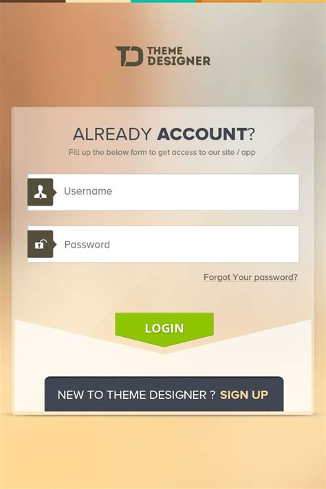 17 best images about login page design on
