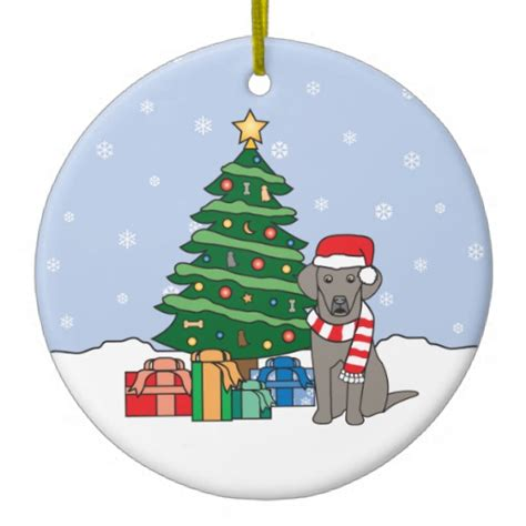weimaraner christmas ornament zazzle