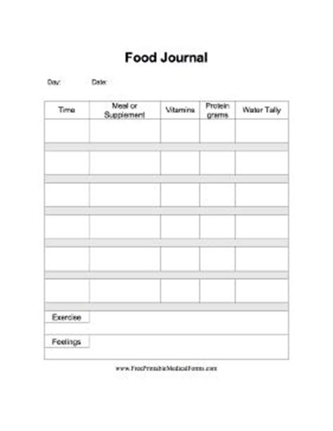 printable medifast food journal a printable food journal specifically for use post