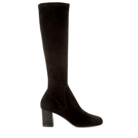 klein boots calvin klein suede glitter boots in black lyst
