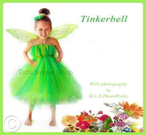 Handmade Tinkerbell Costume - handmade tinkerbell inspired baby tutu dress costume
