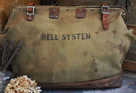 antique vintage cs bell system large canvas