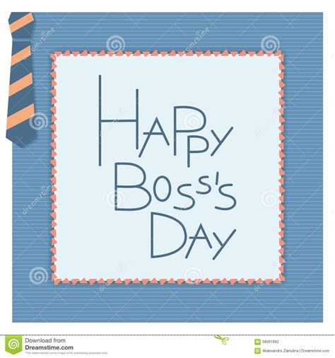 bosses day card template happy day invitation card stock vector illustration