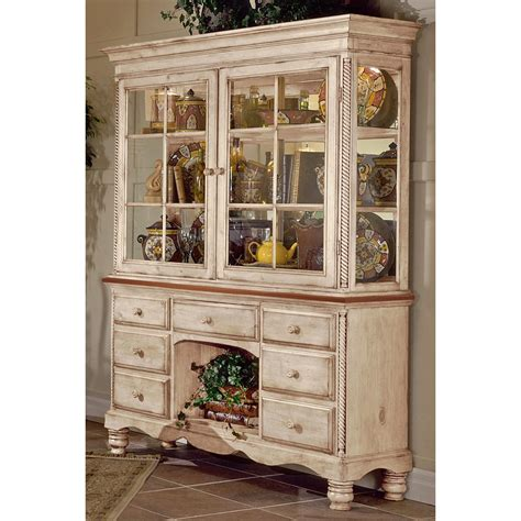 kitchen buffet hutch furniture wilshire wood buffet table w optional hutch in antique