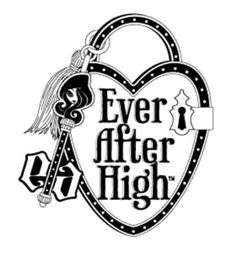 ever after high logo coloring pages ever after high logo lock and key trademark quickcompany