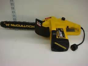 mcculloch electramac electric chainsaw em250 2 5 hp 14