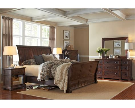 sleigh bed sets aspenhome bedroom set w sleigh bed westbrooke asi59 400set