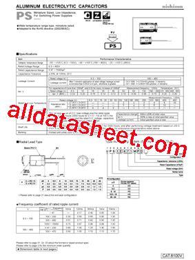 capacitor nichicon datasheet ups1h101mpd datasheet pdf nichicon corporation