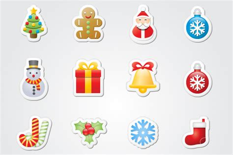 Aufkleber Weihnachten Kostenlos by Exclusive Icons For The Holidays Quot Stickers