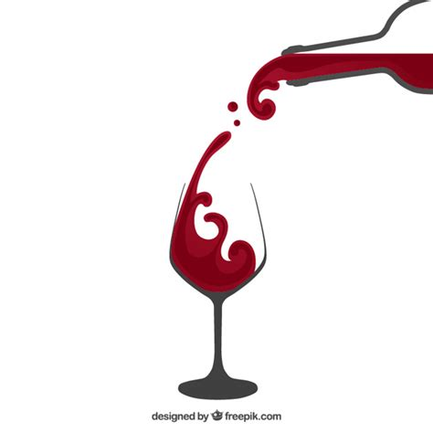 wine glass svg pouring red wine vector free download