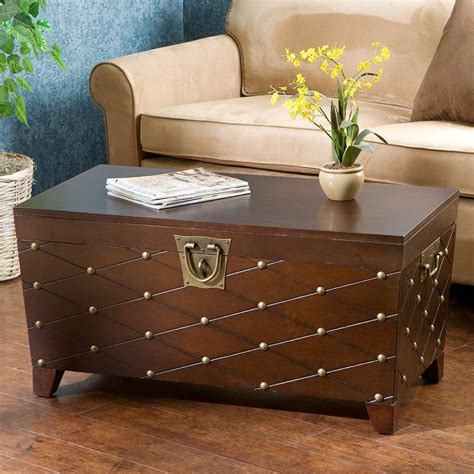 Trunk Coffee Table Astoria Grand Cainhoe Nailhead Trunk Coffee Table Reviews Wayfair
