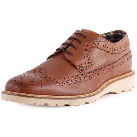 penguin iwest mens leather brogues new shoes all sizes