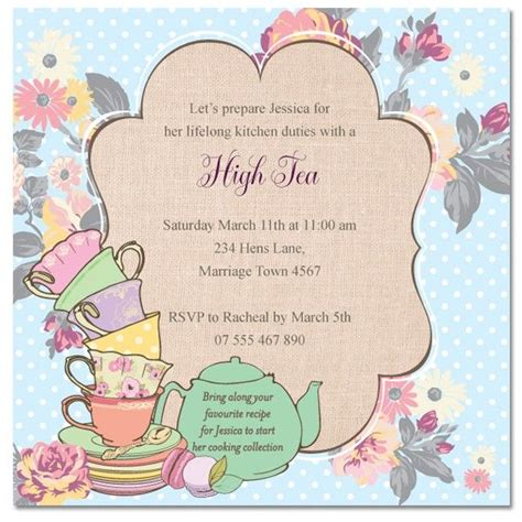morning tea invitation template free 22 morning tea invitation template tea invitations
