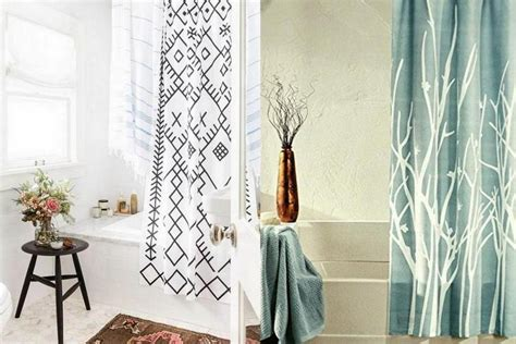 how to choose a shower curtain tips choose the right shower curtain for your small