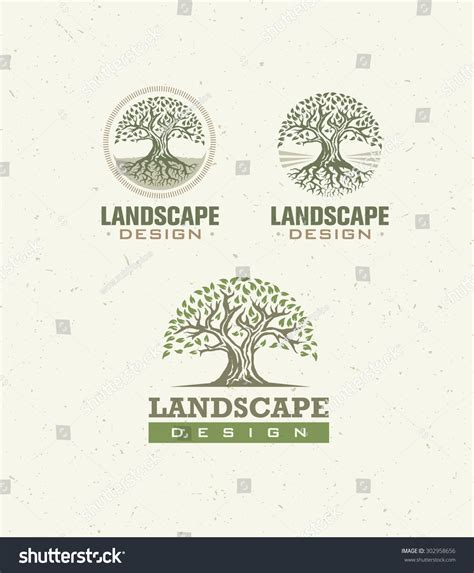 Landscape Design Paper Landscape Design Creative Vector Concept Tree With Roots
