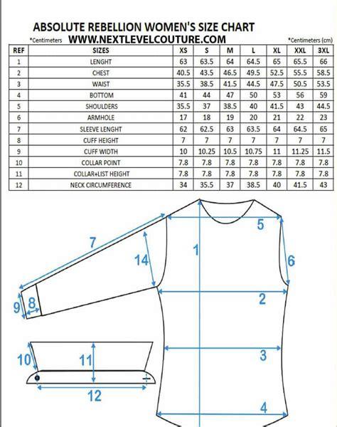 fashion doll size chart absolute rebellion dress shirt measurement