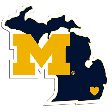 michigan vinyl decal michigan wolverines home state vinyl auto decal michigan