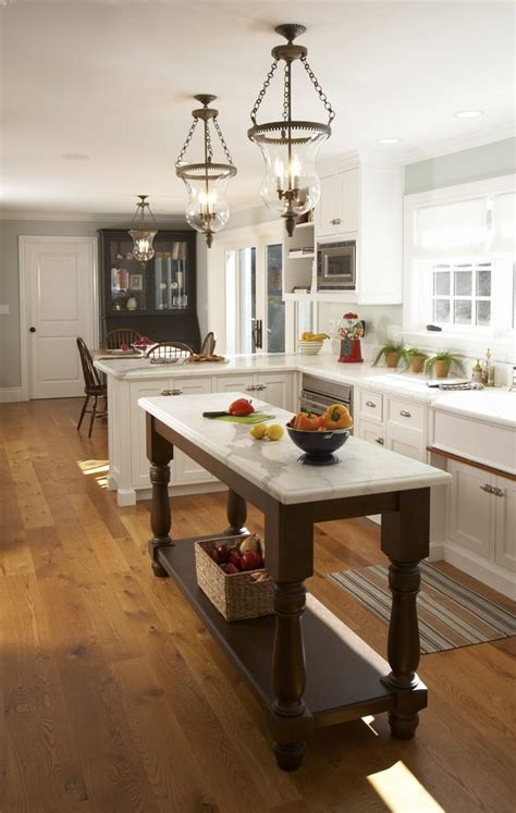 Narrow Kitchen Island Table San Francisco Narrow Counter Height Kitchen Traditional With Brown Wood Prep Tables Silver