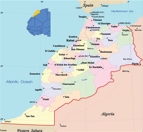africa map morocco west africa and morocco route maps