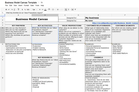 excel business model template best photos of business model template excel business