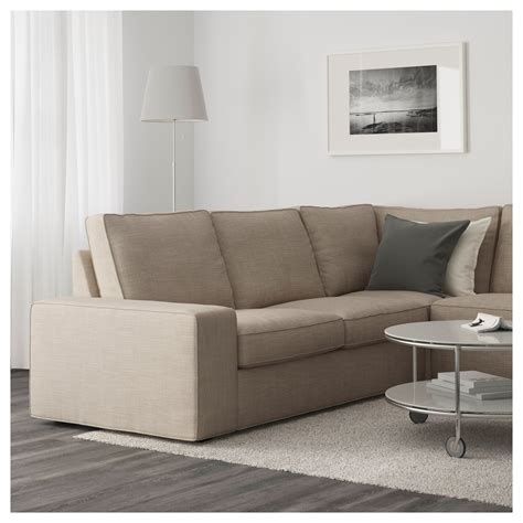 sofa kivik kivik corner sofa 2 2 with chaise longue hillared beige ikea